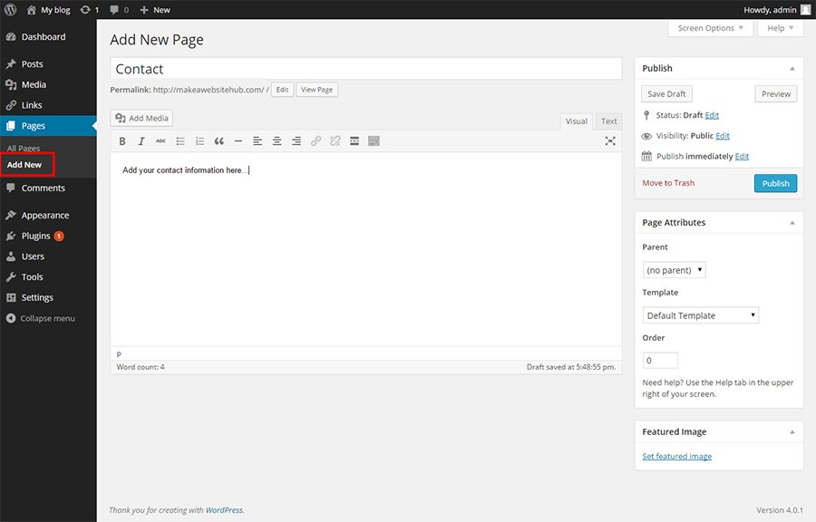 wordpress---add-new-page