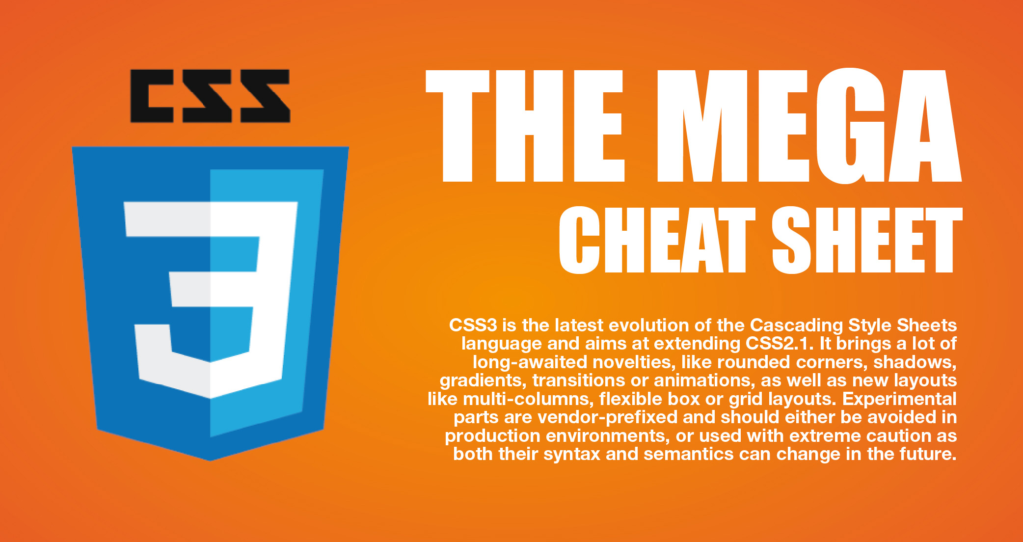 The Mega Css3 Cheat Sheet Infographic Make A Website Hub