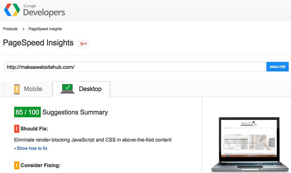 Speed Up WordPress Page-Speed-Insights