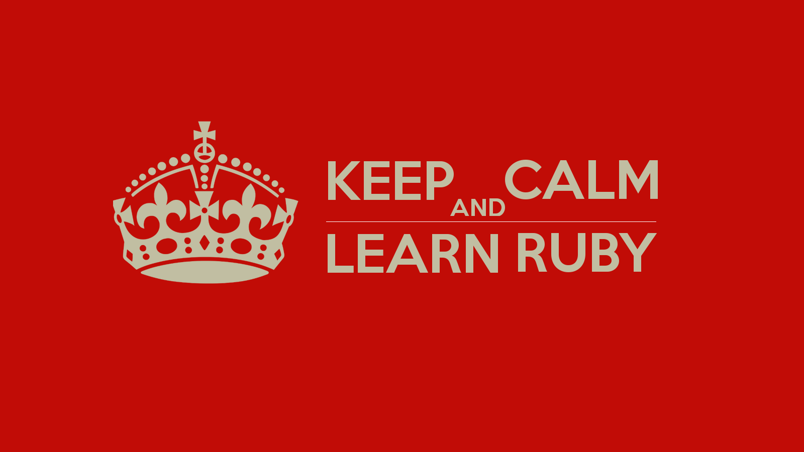 Learn ruby programming for beginners