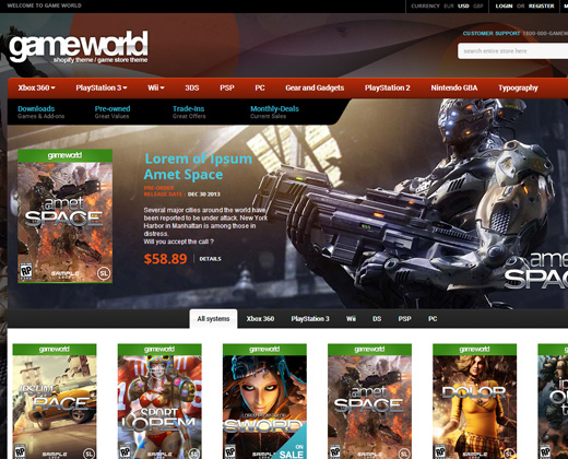 gameworld-shopify-store-theme
