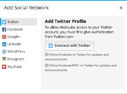 Connect Social Profile