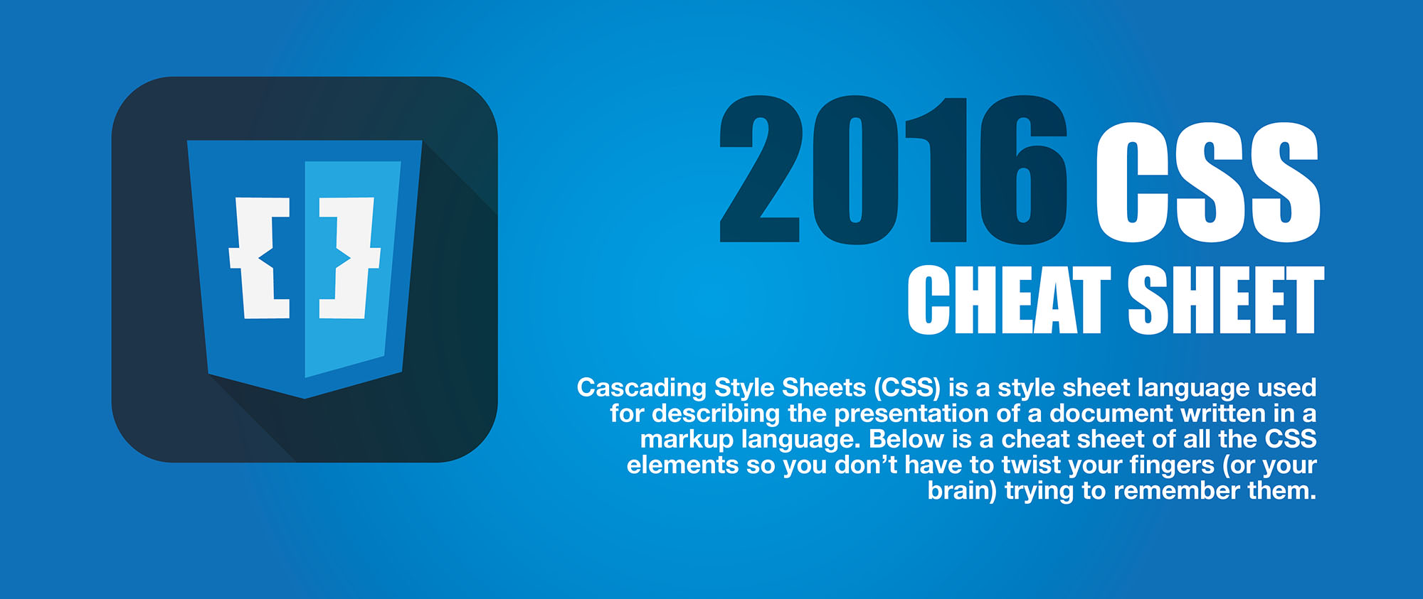 CSS cheat sheet header