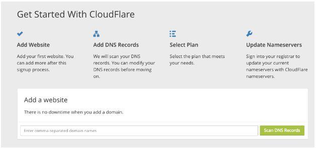 cloudflare ile başlama