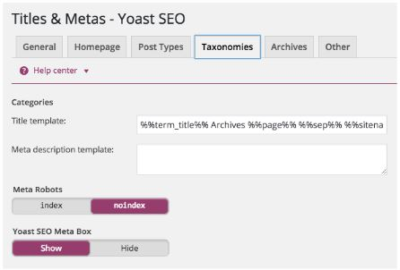 taxominies-homepage-yoast-set-up