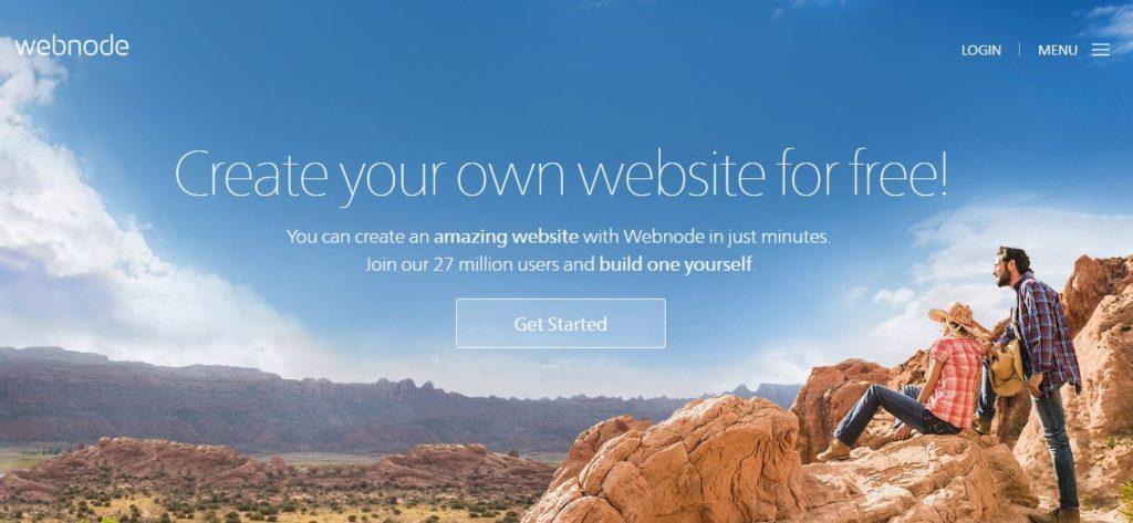 webnode free web builder