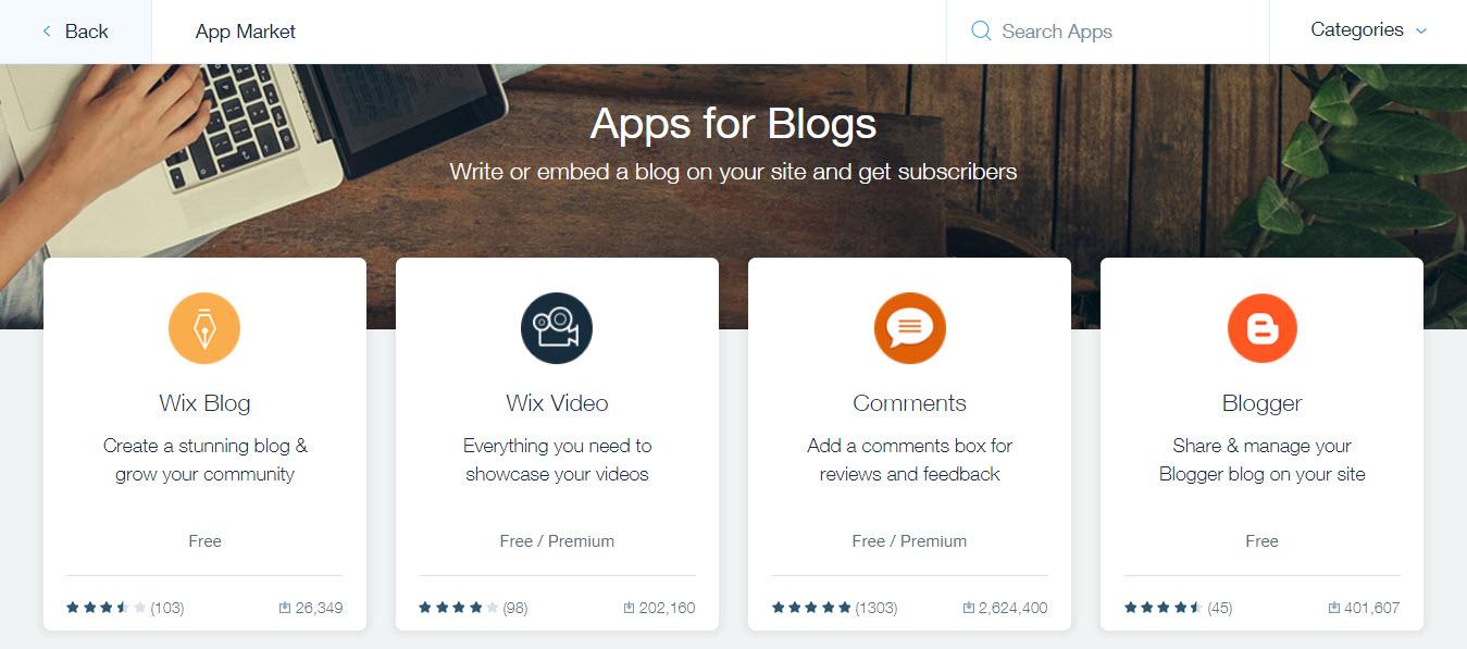 Apps fo Blogs