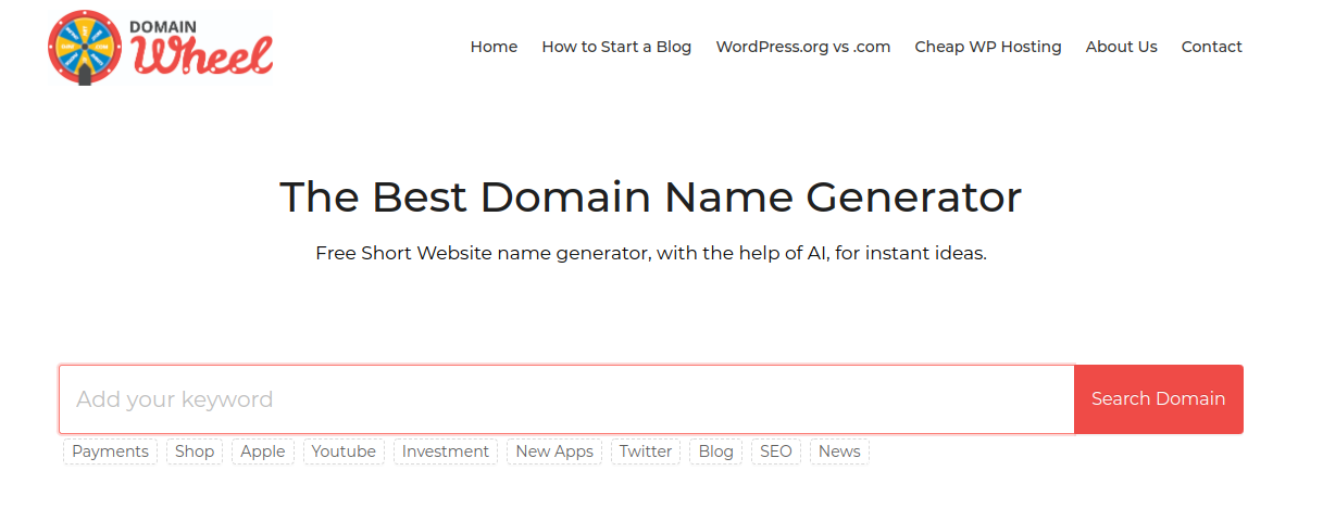 9 Best Blog and Domain Name Generators 2019 > Make A Website Hub