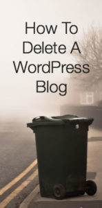 how to delete a wordpress blog