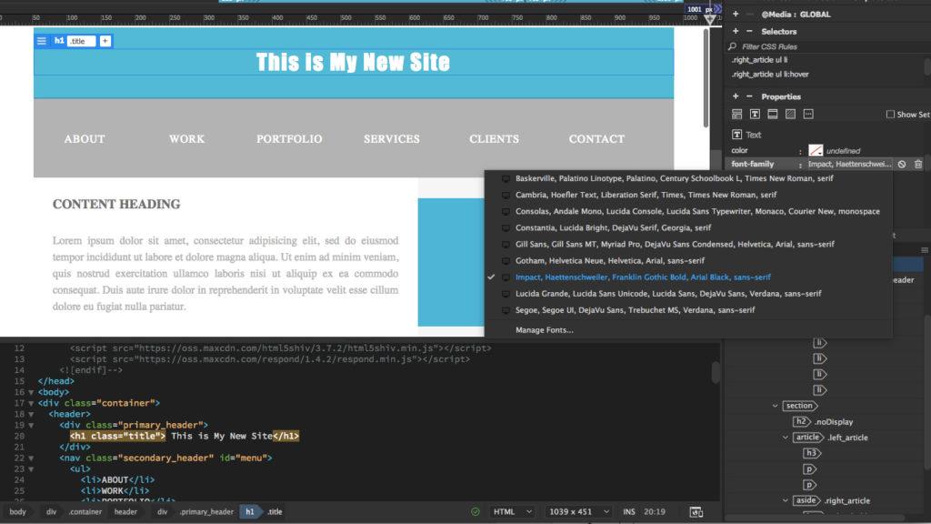 Simple Step By Step Dreamweaver Tutorial - Make A Website Hub