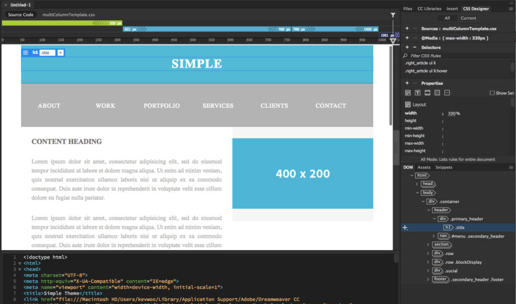 Simple Step By Step Dreamweaver Tutorial 2020 Make A Website Hub