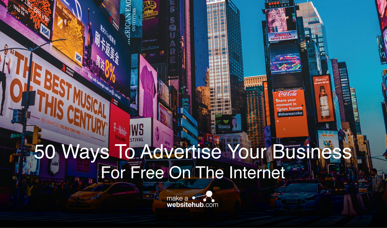 50 ways to advertise your business for free on the internet