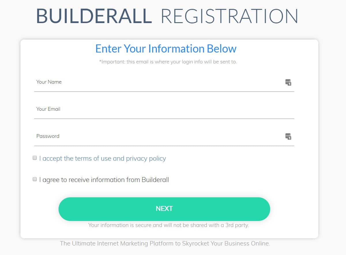 Builderall Registration
