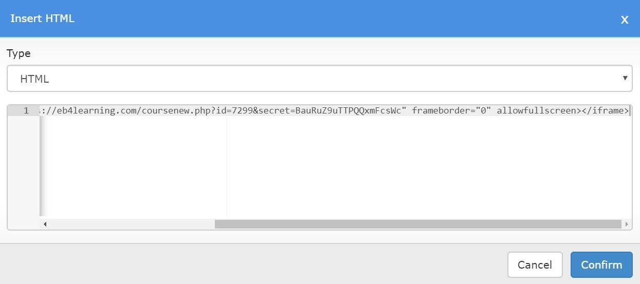Insert HTML