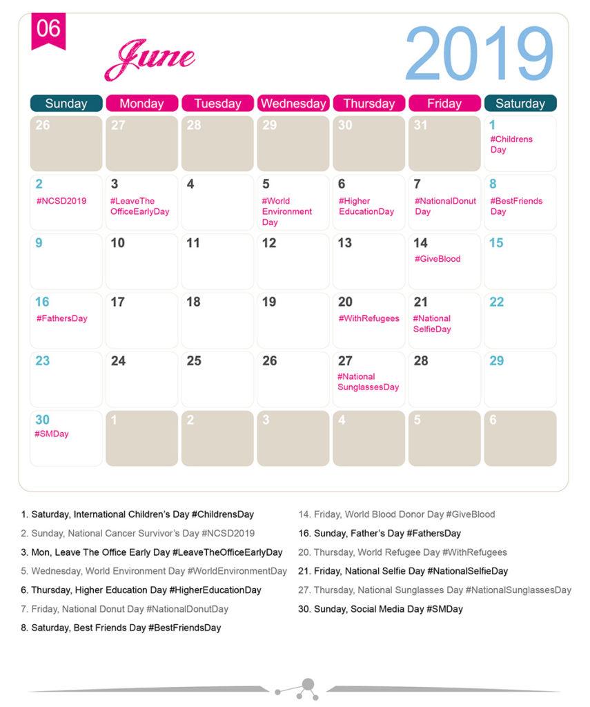 Calendrier Community Manager 2019.The 2019 Social Media Holiday Calendar Make A Website Hub