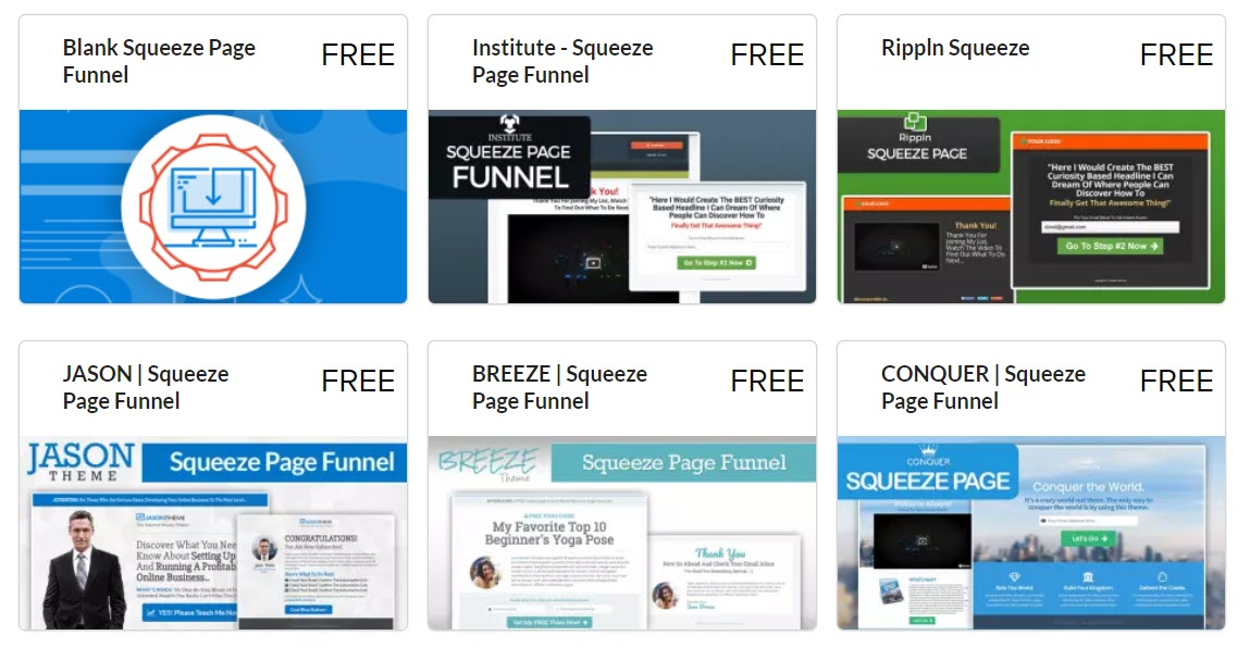 Templates Squeeze Page