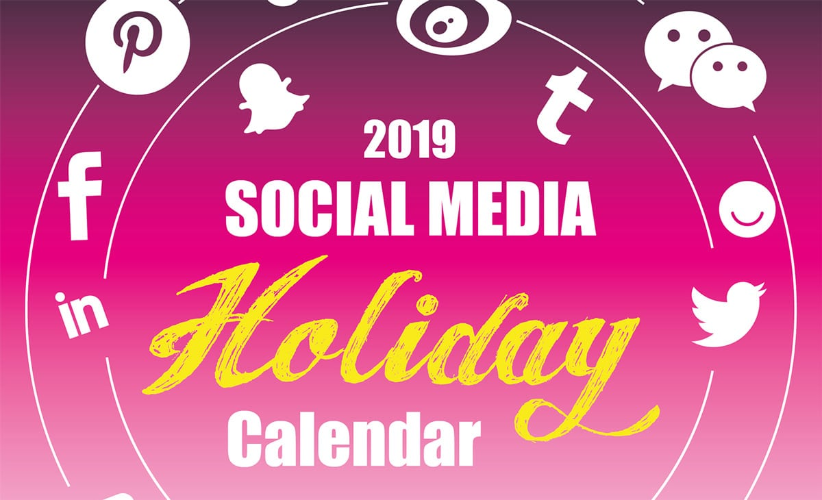 Calendrier 6 Nation 2019.The 2019 Social Media Holiday Calendar Make A Website Hub