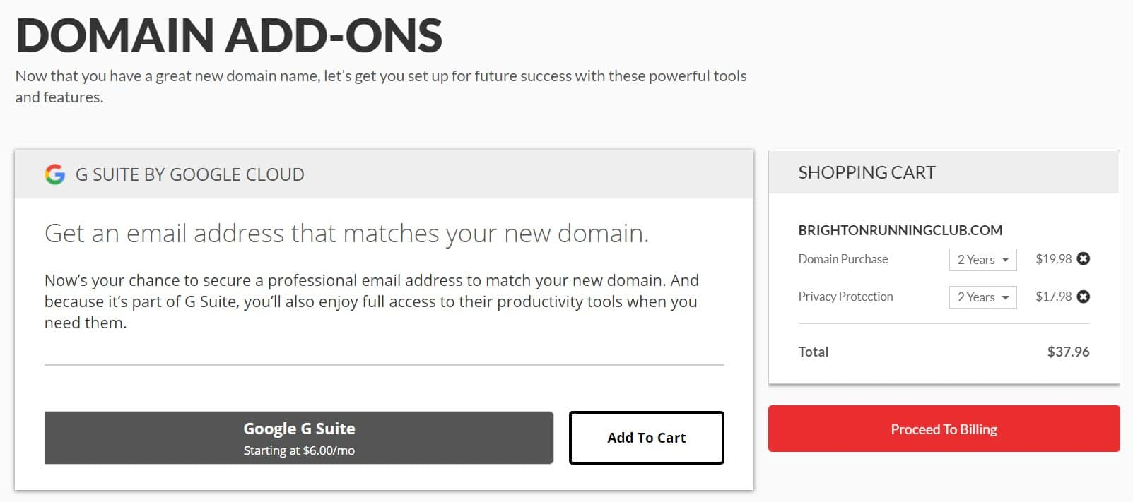 Domain Add Ons