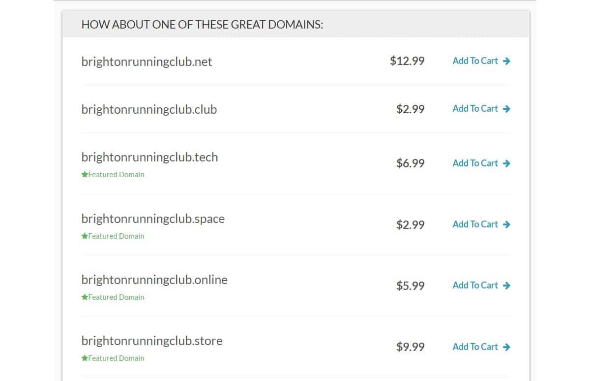 Prezzi di Domain.com