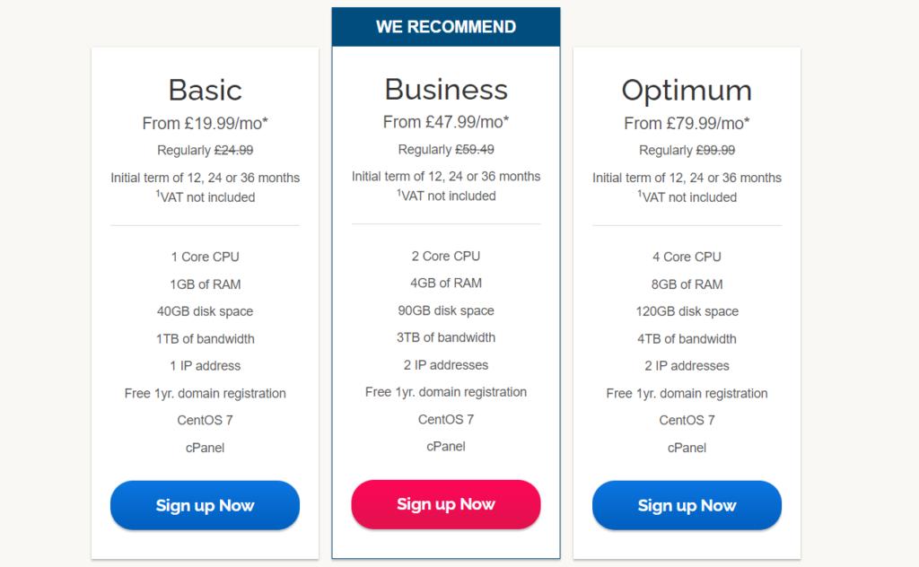 ipage vps hosting pricing