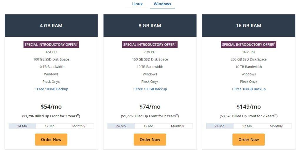 liquidweb windows pricing